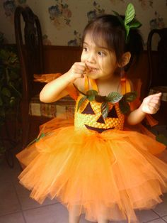 Pumpkin Princess Costume by MyDaintyDoll on Etsy, $30.00