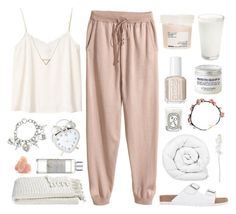 """""""Untitled #774"""" by fashion-princes ❤ liked on Polyvore featuring L'Occitane, H&M, Monki, Lipstik, Brinkhaus, Crate and Barrel, Shabby Chic, GUESS, Davines and Essie"""