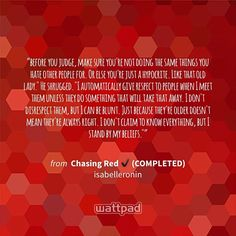"I'm reading ""Chasing Red ✔ (COMPLETED)"" on #Wattpad #romance."