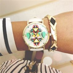 aztec print watch