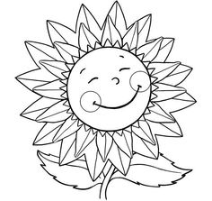 Simple Summer Coloring Pages Awesome Sunflower Drawing Simple at Getdrawings - Lombn Sites Sunflower Coloring Pages, Summer Coloring Pages, Butterfly Coloring Page, Sunflower Drawing, Easy Coloring Pages, Free Coloring Sheets, Online Coloring Pages, Cartoon Coloring Pages, Coloring Pages To Print