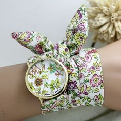 Ladies flower cloth wrist watch gold fashion women dress watches