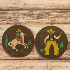 Country Western Wall Decor Cowboys & Horses by ColsonsCollectibles