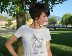 Print on a heat transfer with the Canon PIXMA iP8720 and make a pinata shirt!
