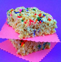 Rice crispie cake ..going to make this for someone I know who has an egg allergy and can't eat cake.