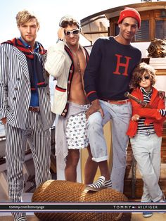 Tommy Hilfiger. Dig the shorts and nautical anchor-patterned pants.