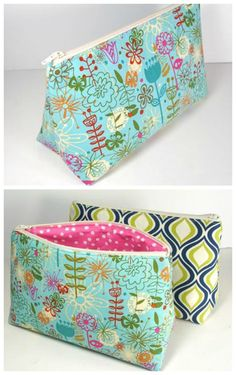 FREE sewing pattern and full video tutorial for this great cosmetics bag.