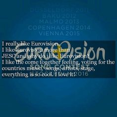 Our first submitted confession from @eurovisionnews #eurovision