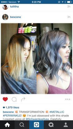 Steely blue grey