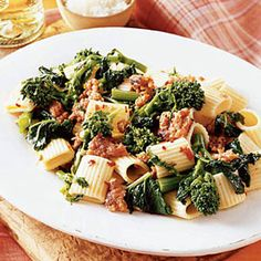Pasta with Broccoli Rabe and Sausage — Italian Recipes - Woman's Day