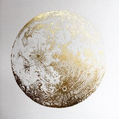 ❥ ❥ Lua de Ouro ❥ ❥ A luxury version of the Full Moon now available as a foil blocking on fine art paper. Square format 30 x edition of each signed and numbered. Bild Gold, Doodle Drawing, Gold Poster, Gold Aesthetic, Artemis Aesthetic, Luna Lovegood Aesthetic, Apollo Aesthetic, Aesthetic Space, Night Aesthetic