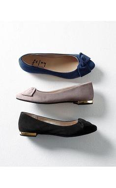 French Sole Myth Bow Ballet Flats