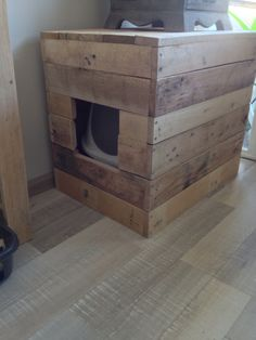 Litter Box DIY: Concealed Using Pallets