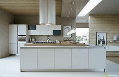 L shaped kitchen modern kitchens fronts white glossy chassis units kitchen peninsula