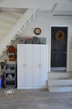 Get your garage organized! Phase One  #lowescreator theidearoom.net