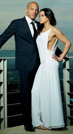 Vin Diesel and Michelle Rodriguez // Letti and Dominic Toretto. Michelle Rodriguez, Paul Walker, Gal Gadot, Vin Diesel Wife, Diesel Fuel, Fast And Furious Letty, Furious 6, Celebrity Photos, Celebrity Style