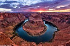 Horseshoe Bend atardecer, Arizona, Estados Unidos