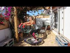 Trampoline Workout, Trampolines, Rebounding, Yoga Fitness, Patio, Youtube, Gym, Outdoor Decor, Sports