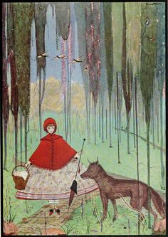 "Harry Clarke. Little Red Riding Hood. Illustration from ""Tales of Charles Perrault."" 1922."