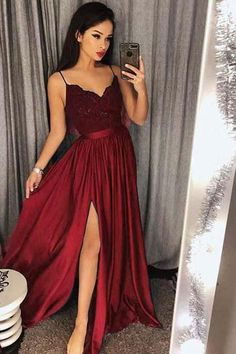 V Neck Prom Dress, Prom Dress Ball Gown, Lace Prom Dress, Bridesmaid Dresses Prom Dress V-neck Bridesmaid Dresses 2018 Outlet Feminine 2019 Bridesmaid Dresses Spaghetti Strap Prom Dresses Long Lace V Neck Maxi High Split Evening Ball Gowns 2019 Split Prom Dresses, Bridesmaid Dresses 2018, Straps Prom Dresses, V Neck Prom Dresses, Dress Prom, Dress Formal, Long Dresses, Dresses Dresses, Dress Wedding
