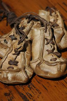 Antique Leather Sled Dog Boots