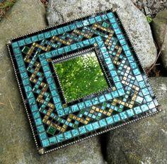 Custom Mosaic Mirror by MosaicObsession on Etsy Stained Glass Mirror, Mirror Mosaic, Mosaic Diy, Mosaic Garden, Mosaic Crafts, Mosaic Projects, Mosaic Glass, Mosaic Tiles, Mosaics