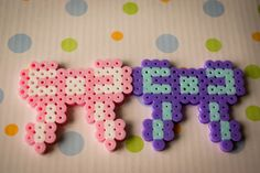 Perler bead bows by sgreenlaw on deviantart