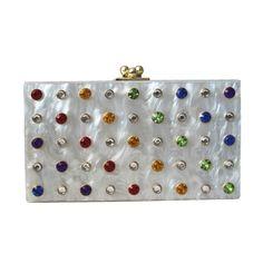 2017 new wallet brand fashion women messenger Clutch feminina elegant wedding handbag acrylic unique colorful diamond Eveningbag
