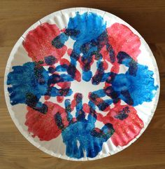 Handprint Firework Craft is perfect for the little ones! Can even date and save it.