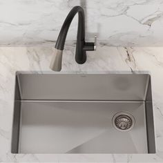 Kraus Stainless Steel Standart PRO Undermount Single Basin Stainless Steel Kitchen Sink - Includes Drain Assembly, Removable Drain Cap, Bottom Grid, and Kitchen Towel Kraus, Double Basin, Stainless Steel Kitchen Sink, Single Basin, Drain Opener, Steel, Kitchen Towels, Apron Sink Kitchen, Sink