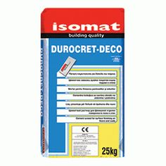 DUROCRET-DECO Cement screed for surface finishing on floors and walls by ISOMAT.