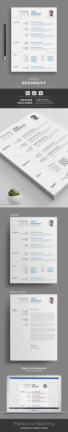 #Resume - #Resumes Stationery Download here: https://graphicriver.net/item/resume/20243124?ref=alena994