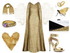 Tesettür Abiye Elbise Kombinasyonları - Gold Abiye Elbise Kombini http://www.yesiltopuklar.com/davetlerin-isiltili-gencleri.html