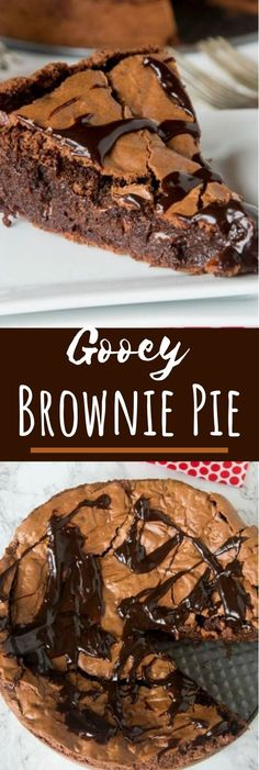 Brownies are somewhat my thing. Or then again simply standard fudgy brownies. Chocolate Cheesecake, Chocolate Brownies, Chocolate Desserts, Fudge Brownie Pie, Chocolate Chocolate, Brownie Recipes, Pie Recipes, Dessert Recipes, Easy Gooey Brownie Recipe