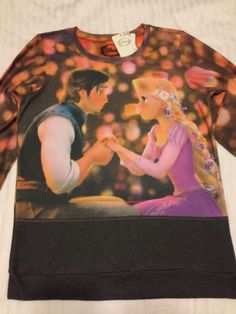 Disney Princess Rapunzel Tangled Flynn Pullover Top Sweater Jumper Sweat Shirt