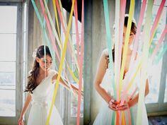 Para Falar de Casamento: Decoração de casamento com fitas coloridas