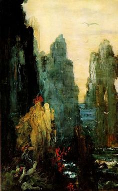 """siren Paintings   The Sirens"""" by Gustave Moreau"""