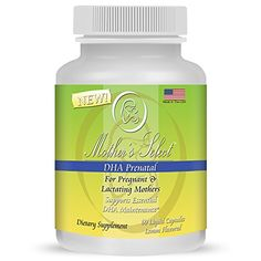 Prenatal DHA - Mother's Select DHA Pre-Natal - EPA Fish Oil, 60 Softgels, Liquid Capsules - Lemon Flavor - Provides Essential One A Day Fatty Acids for Pregnant, Breastfeeding and Lactating Mothers!
