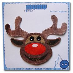 Reindeer iron-on appliqué by mumu boutique on Etsy, $5.50