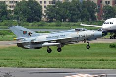 "Bangladesh Air Force Chengdu F-7BGI ""Airguard"" landing at Dhaka, 2014"