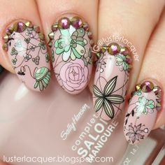 Daily Charme floral decals & crystals