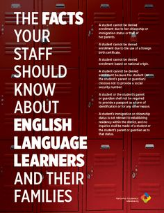The facts your staff should know about English Language Learners and their familes (Teachingtolerance.org)