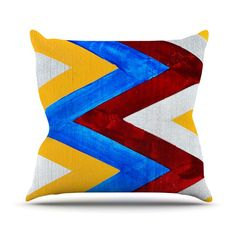 "Brittany Guarino ""Zig Zag"" Outdoor Throw Pillow"