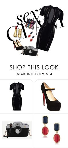 """""""boom"""" by aliyah-anglin ❤ liked on Polyvore featuring beauty, Christian Louboutin and 1st & Gorgeous by Carolee"""