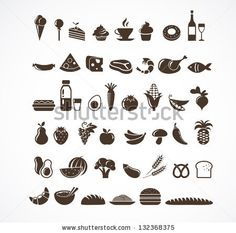 Vector food icons and elements by Marish, via Shutterstock