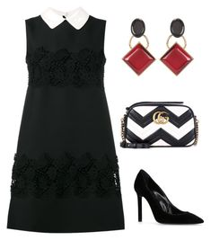 """""""Untitled #586"""" by mchlap on Polyvore featuring Valentino, Gucci, Yves Saint Laurent and Marni"""