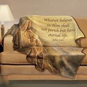 Greg Olsen Inspirational Art Fleece Blanket With Bible Verse I Choose Life, Sending Prayers, Greg Olsen, Spiritual Messages, Thank You God, Dear God, Light Of Life, Walk By Faith, Lord And Savior