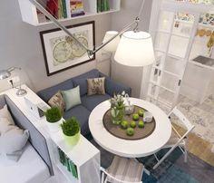 Пример дизайна маленькой однокомнатной квартиры