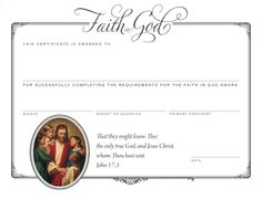 Printables to make the Faith in God program easier - from Cedar Creek Kids
