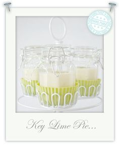 Key lime pie in a jar..makes cute give aways....yummy